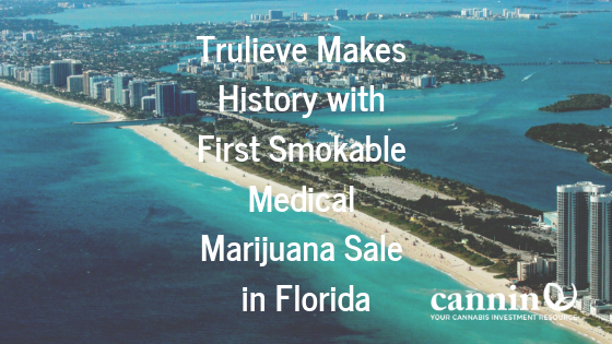 Trulieve Makes History with First Smokable Medical Marijuana Sale in Florida