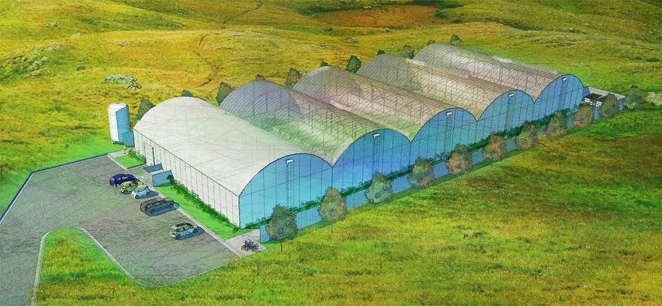 Grow Space New England orangegreen house